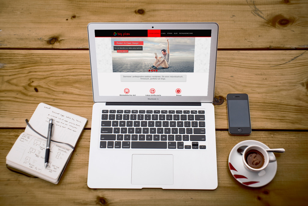 Big Plan motyw wordpress strona firmowa