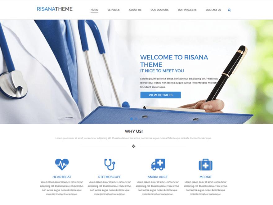fwp-motyw-strona-przychodni-medycyny-dla-lekarza-darmowy-risana