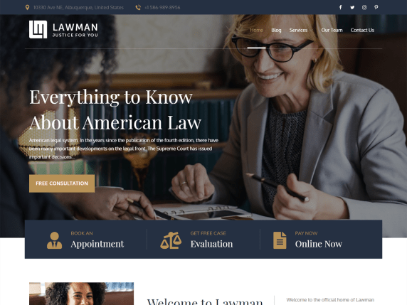 strona internetowa dla prawnika, adwokata